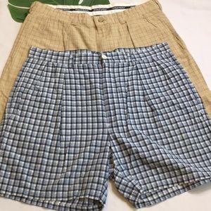 🐎Bundle of 2 Polo Plaid Cotton Shorts 34 🐎